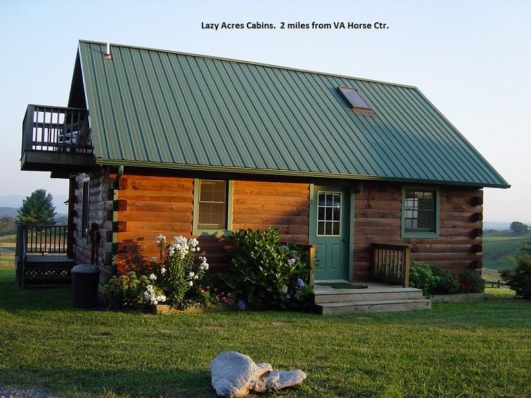 Plan your visit virginia horse center foundation for Cabin rentals near lexington va